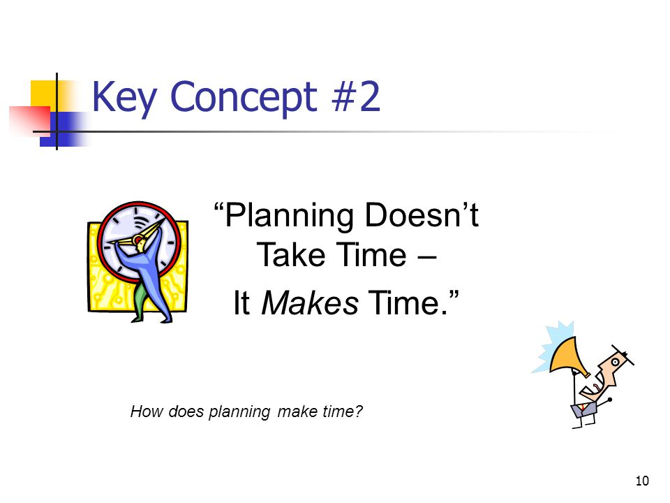 Planning Doesn't Take Time –