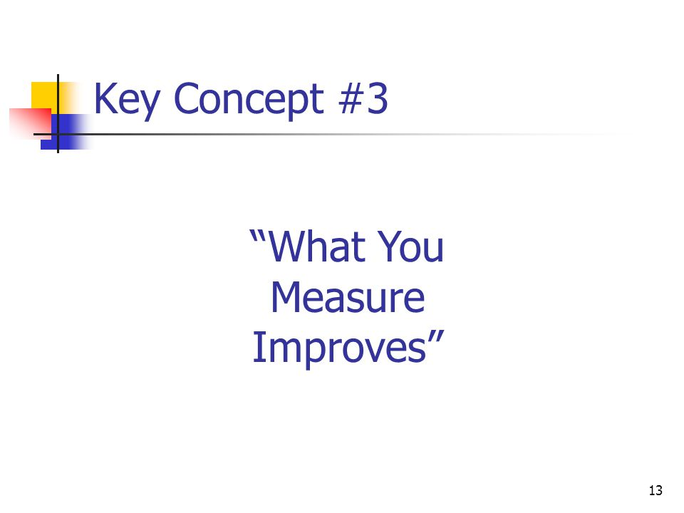 What You Measure Improves