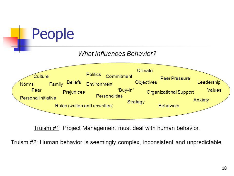People What Influences Behavior