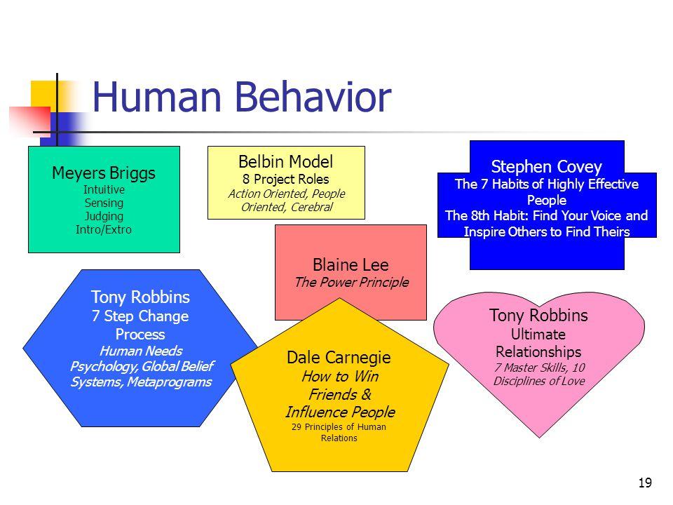 Human Behavior Belbin Model Stephen Covey Meyers Briggs Blaine Lee