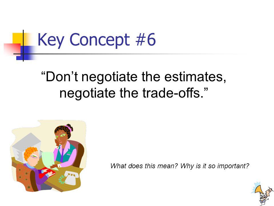 Don't negotiate the estimates, negotiate the trade-offs.