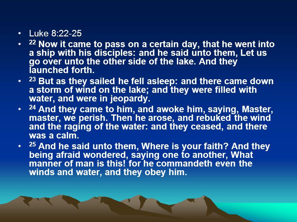 Luke 8:22-25