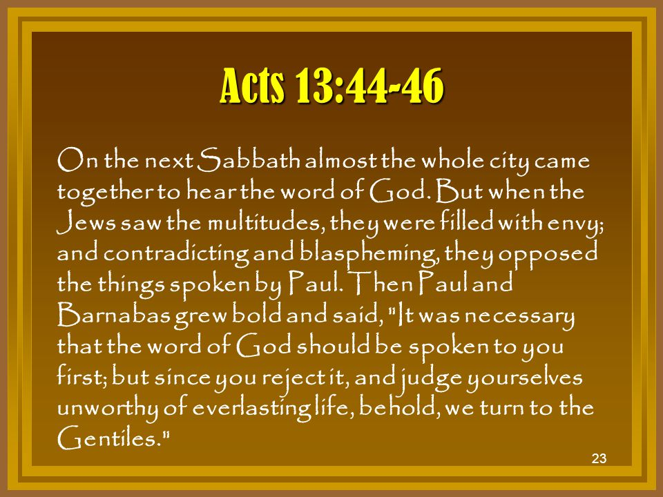 Acts 13:44-46
