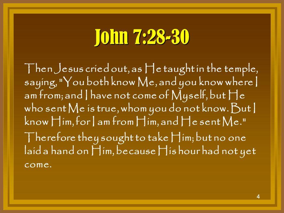 John 7:28-30