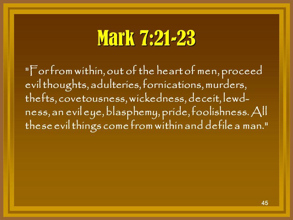 Mark 7:21-23
