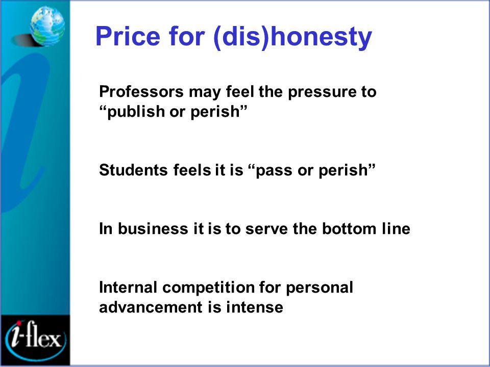 Price for (dis)honesty