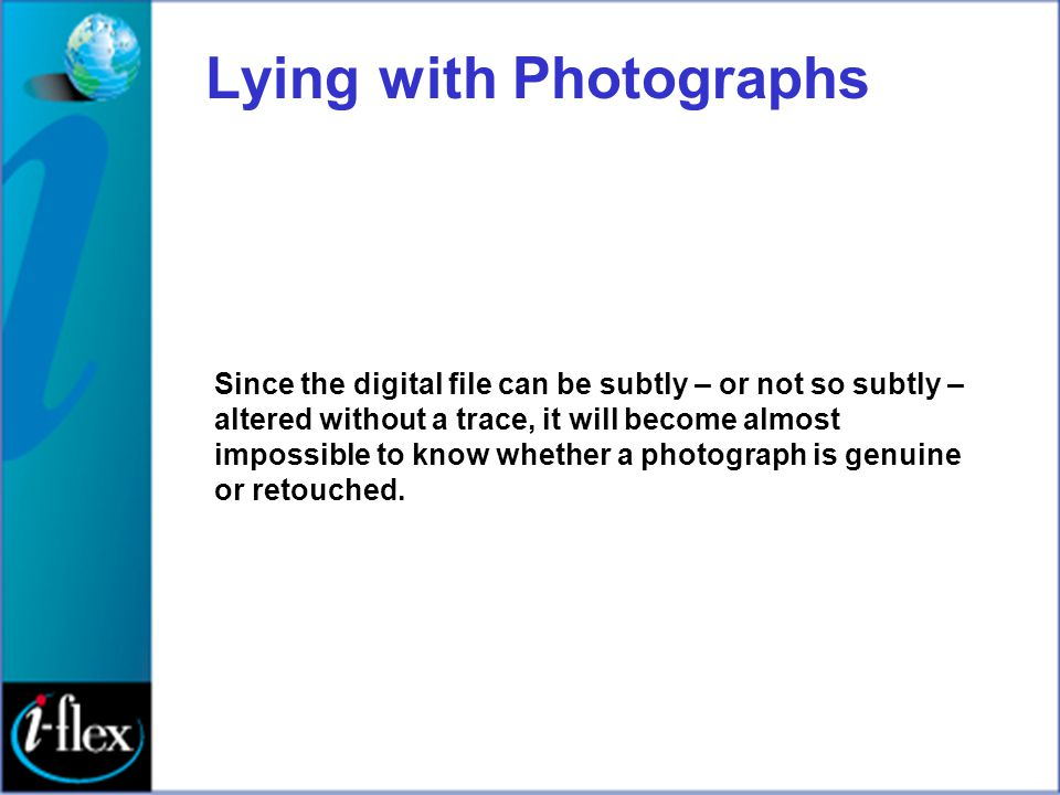 Lying with Photographs