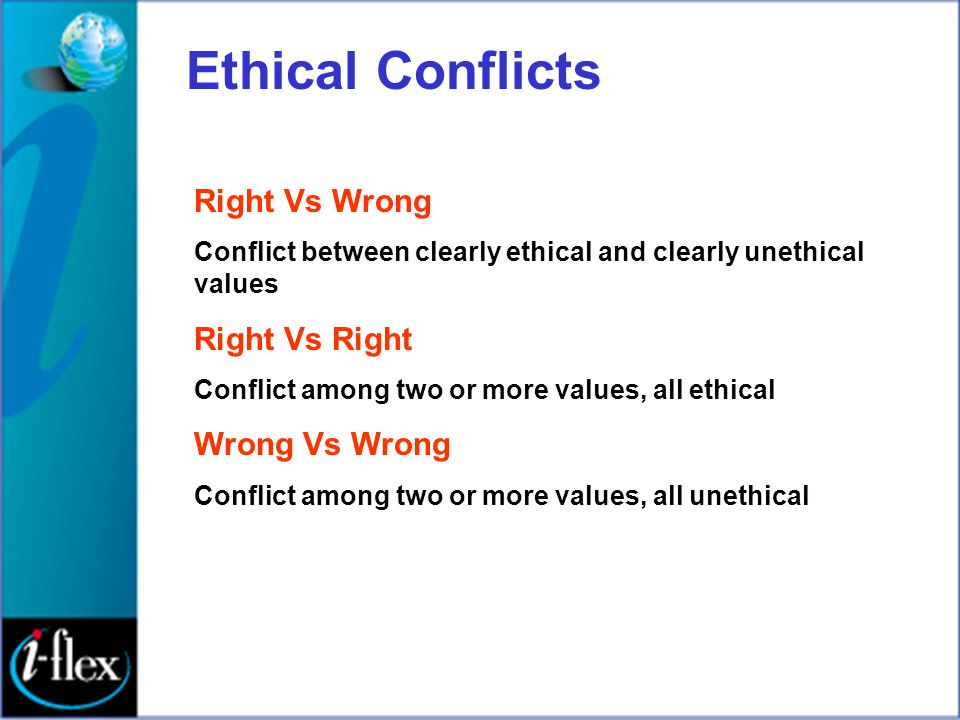 Ethical Conflicts Right Vs Wrong Right Vs Right Wrong Vs Wrong
