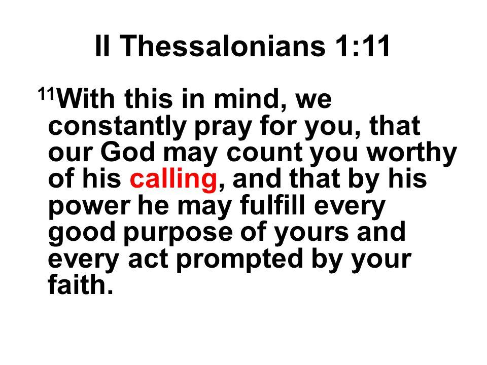 II Thessalonians 1:11