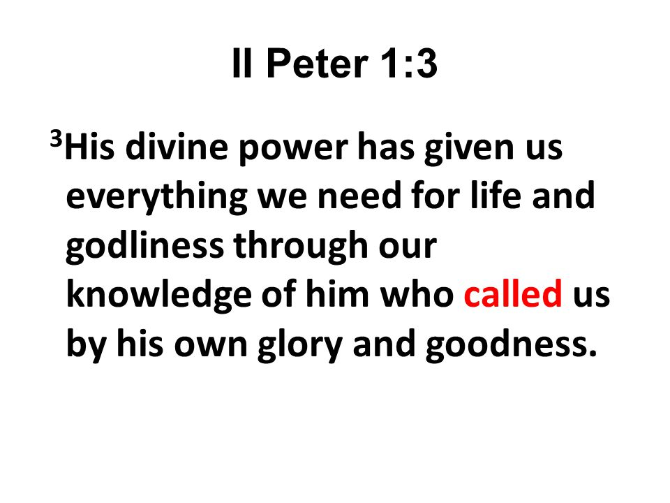 II Peter 1:3