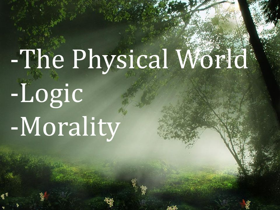 -The Physical World -Logic -Morality