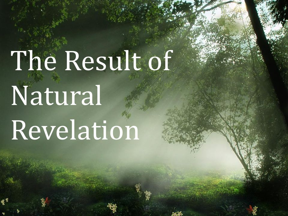 The Result of Natural Revelation