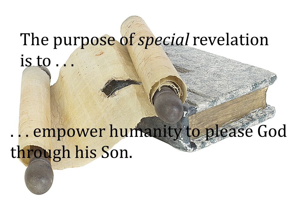 The purpose of special revelation is to . . .