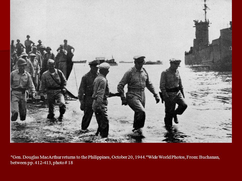 Gen. Douglas MacArthur returns to the Philippines, October 20, 1944