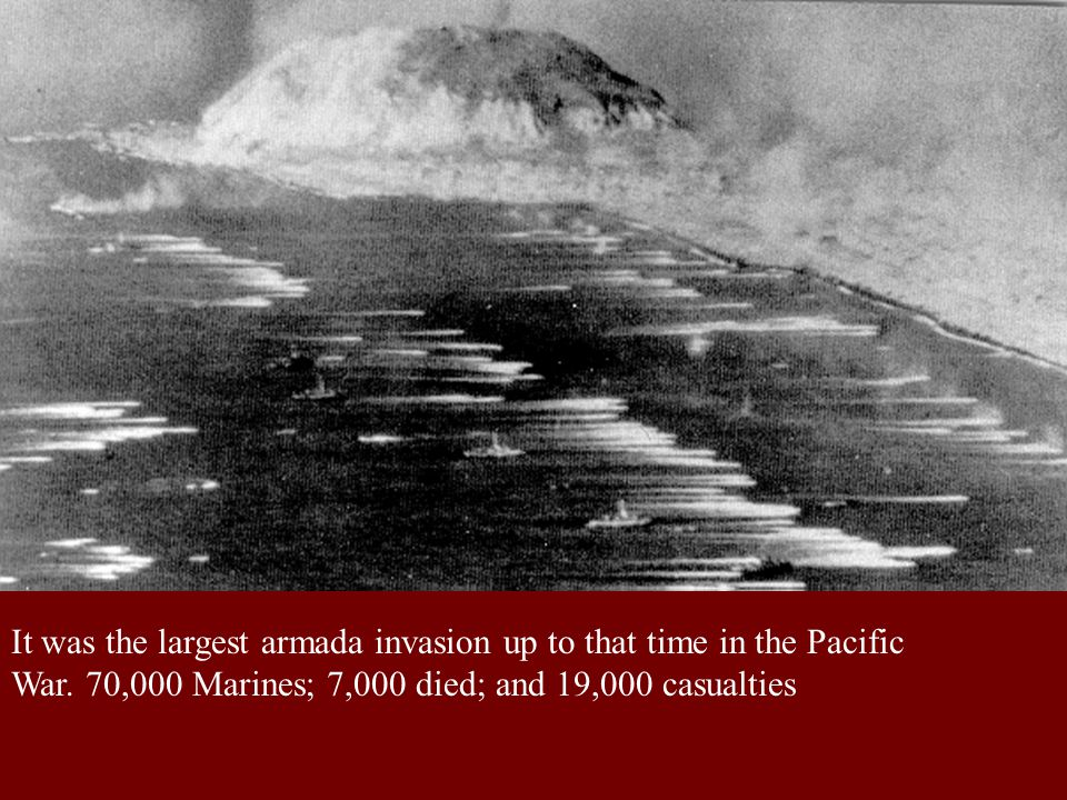 It was the largest armada invasion up to that time in the Pacific War