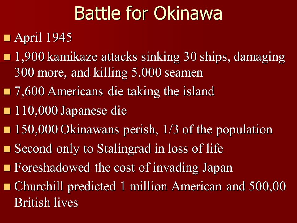 Battle for Okinawa April 1945