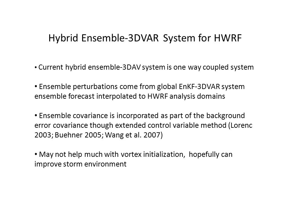 Hybrid Ensemble-3DVAR System for HWRF