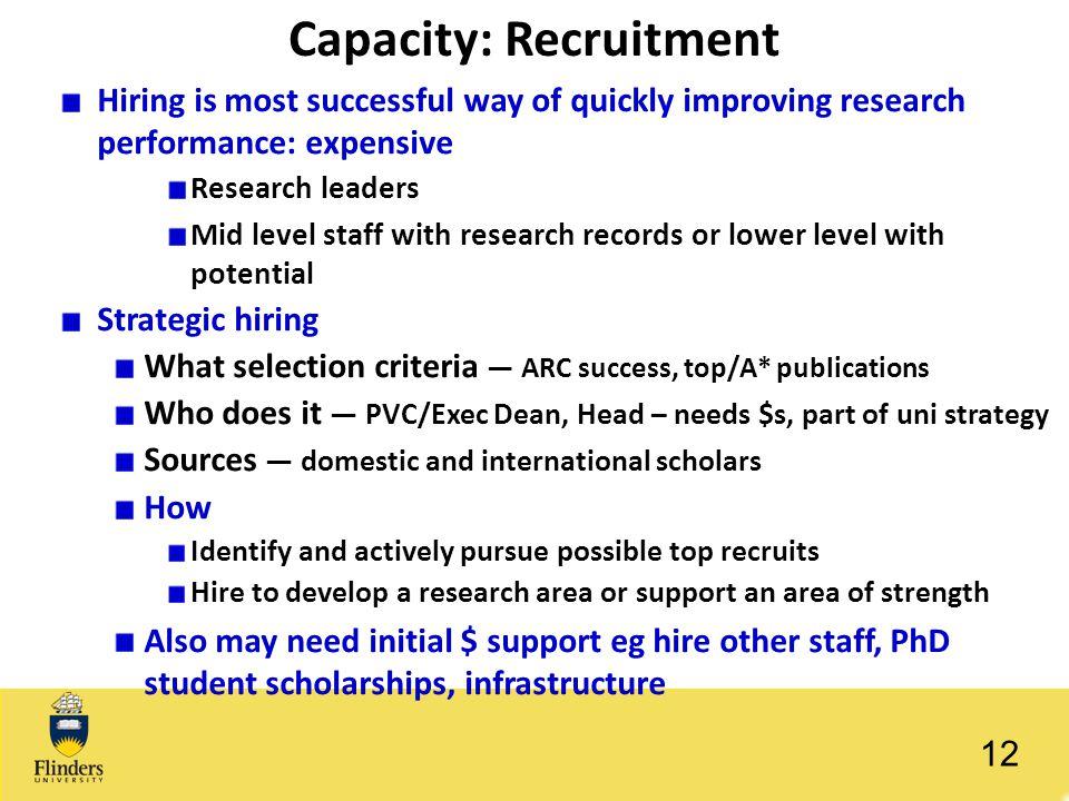 Capacity: Recruitment
