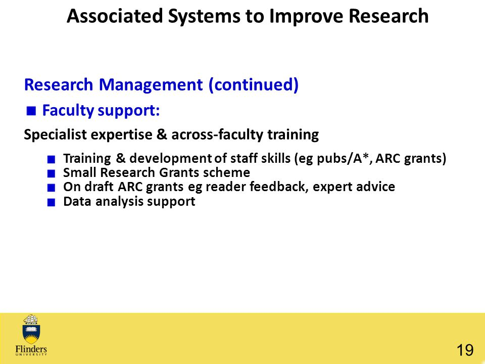 Associated Systems to Improve Research