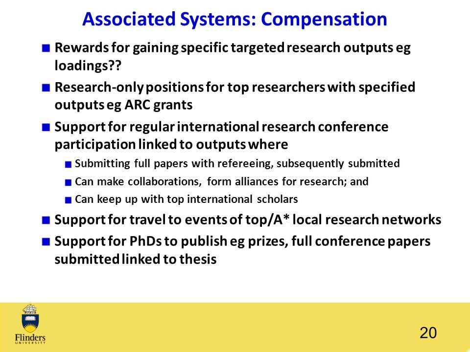 Associated Systems: Compensation
