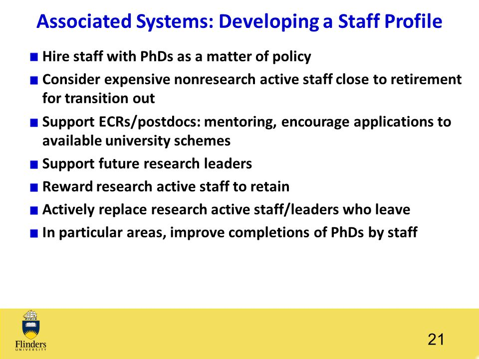 Associated Systems: Developing a Staff Profile