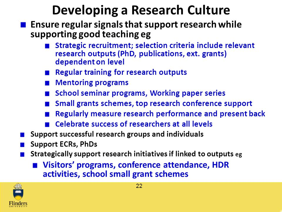 Developing a Research Culture