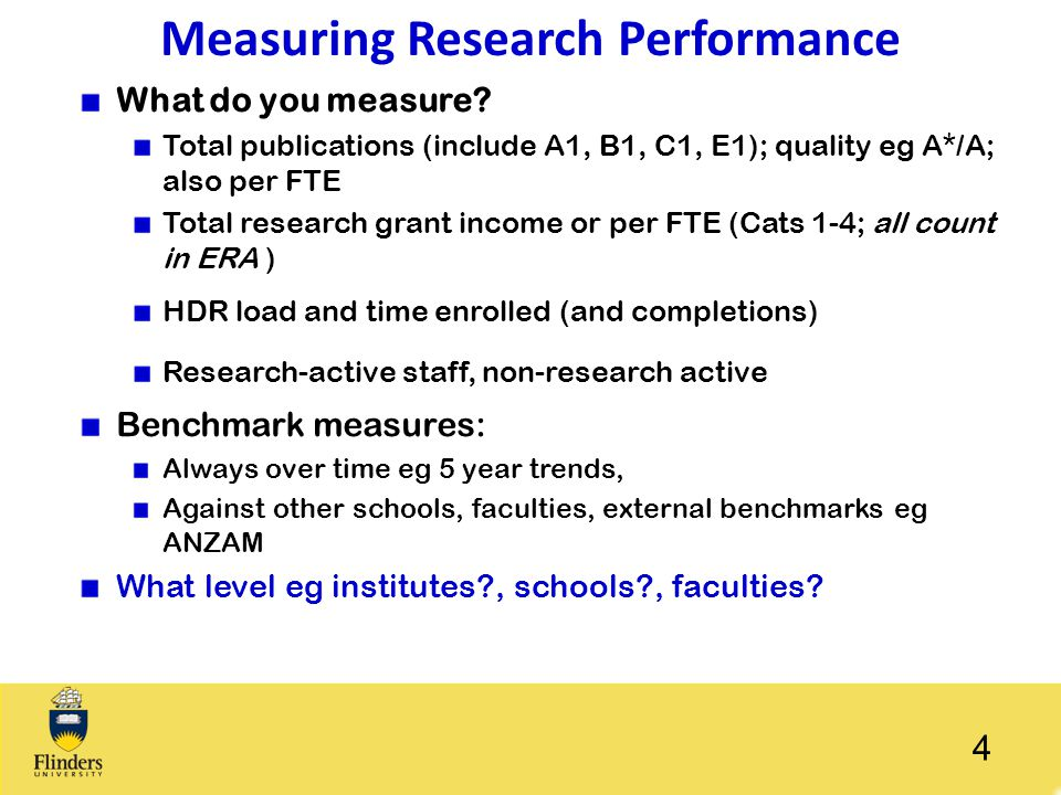 Measuring Research Performance