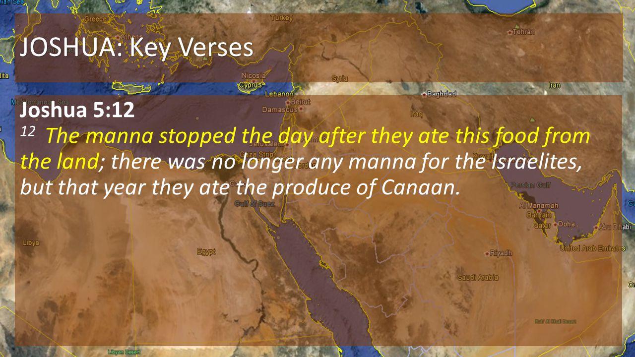 JOSHUA: Key Verses