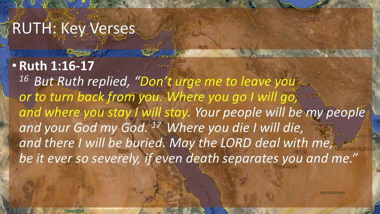 RUTH: Key Verses
