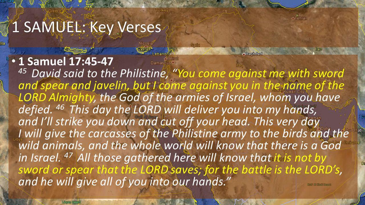 1 SAMUEL: Key Verses