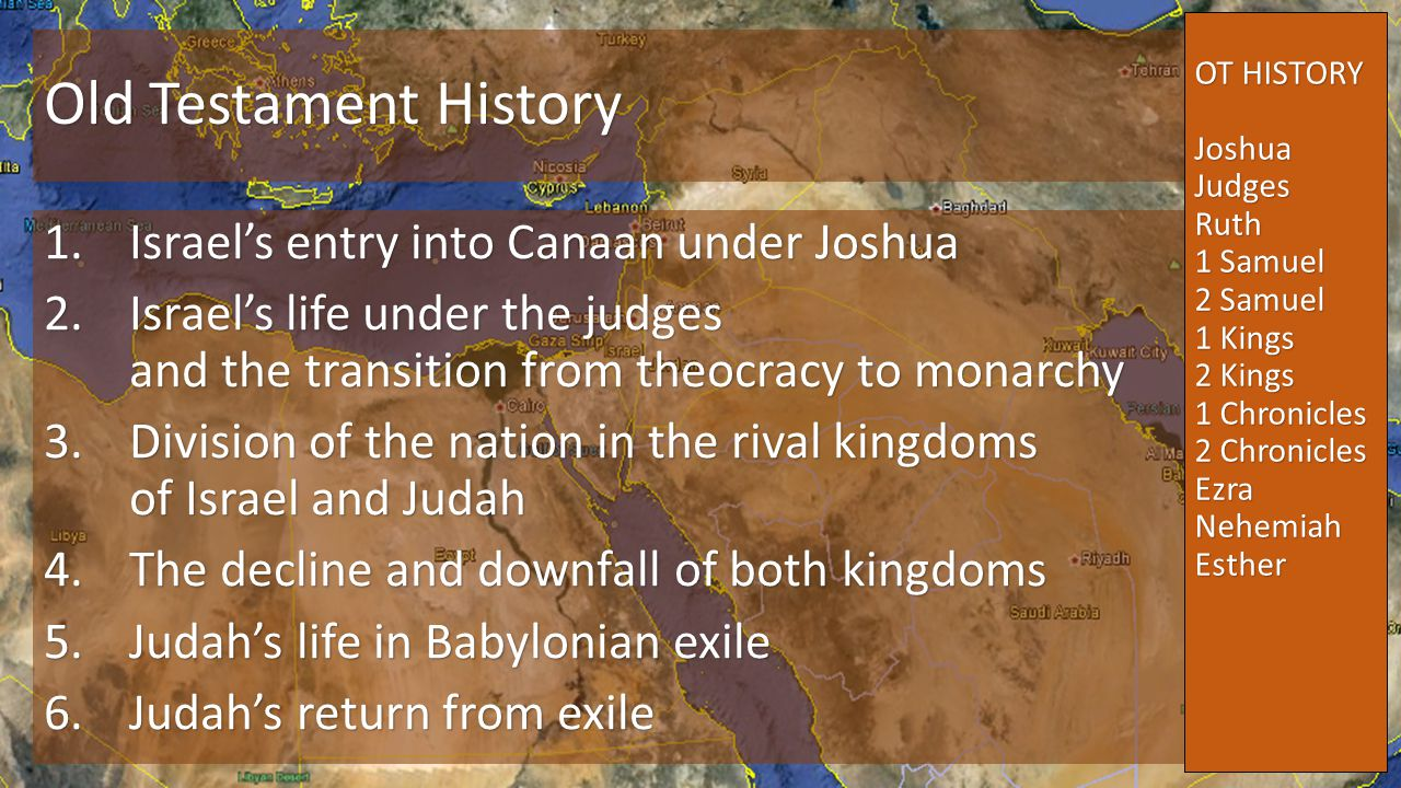 Old Testament History Israel's entry into Canaan under Joshua