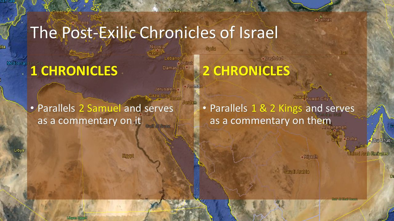 The Post-Exilic Chronicles of Israel