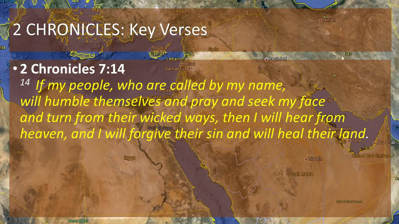 2 CHRONICLES: Key Verses