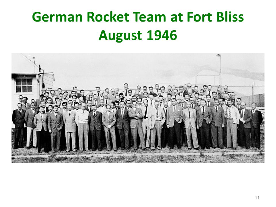 German Rocket Team at Fort Bliss August 1946