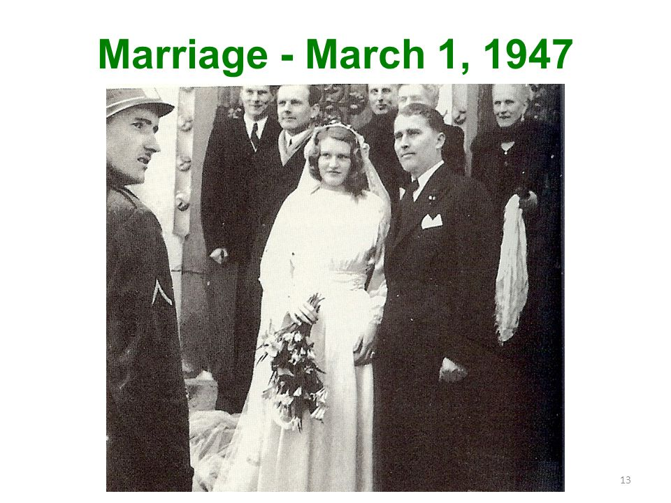 Marriage - March 1, 1947