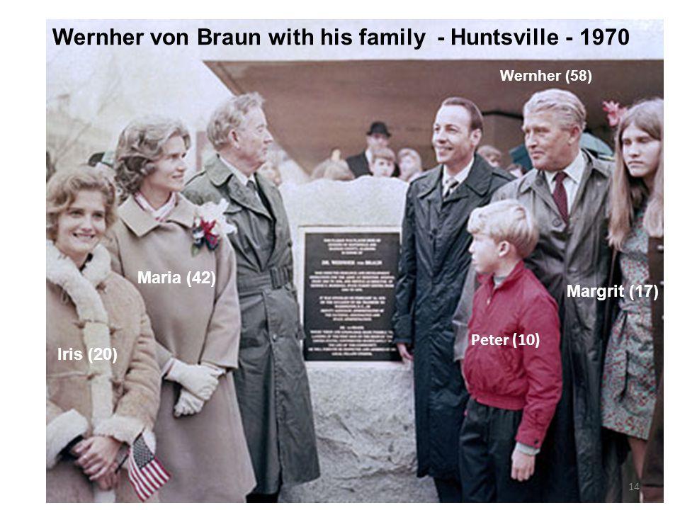 Wernher von Braun with his family - Huntsville - 1970