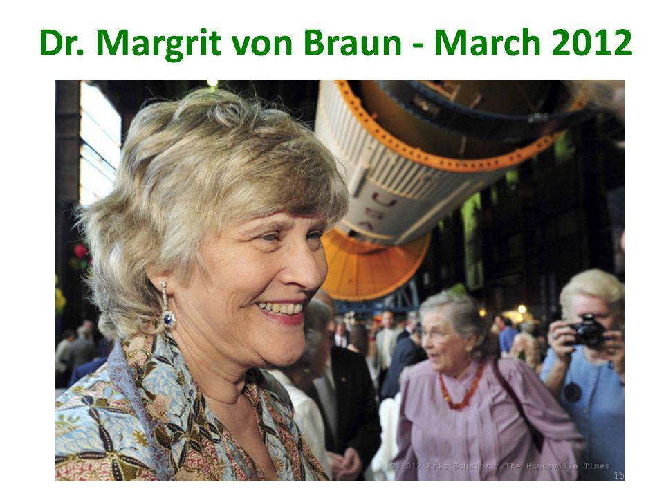 Dr. Margrit von Braun - March 2012