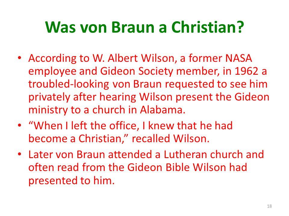 Was von Braun a Christian