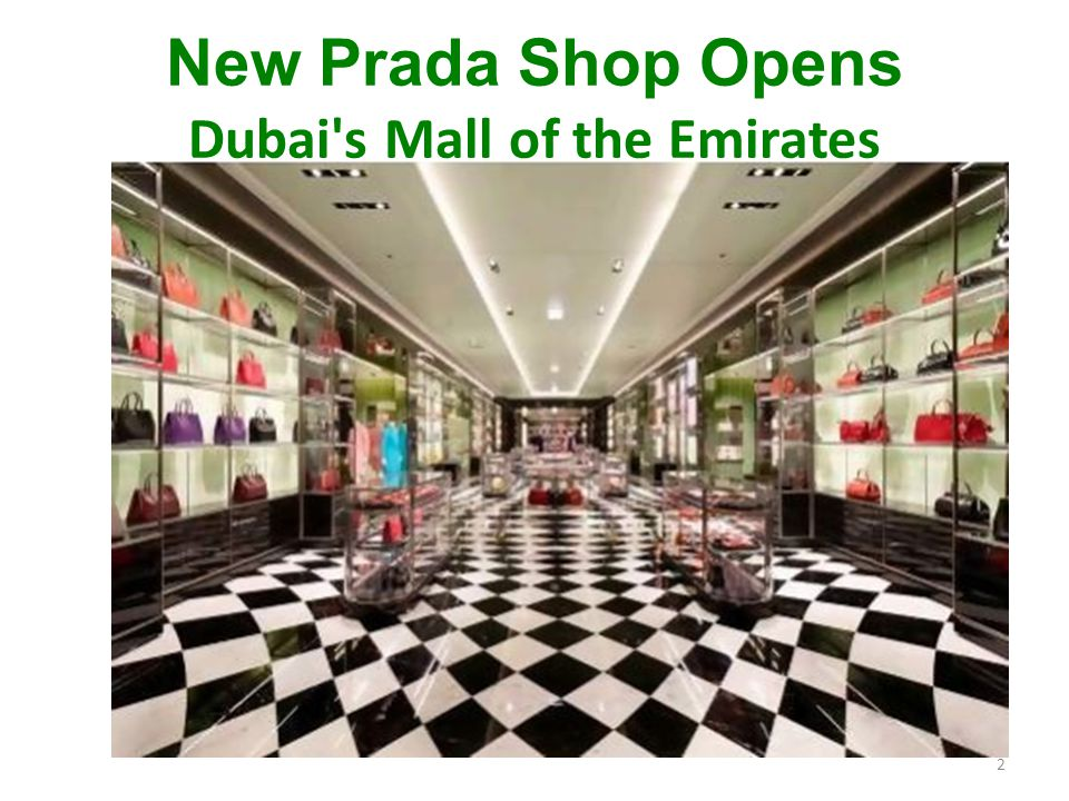 New Prada Shop Opens Dubai s Mall of the Emirates