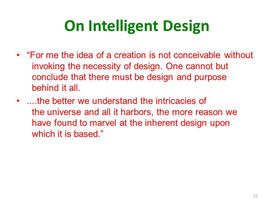 On Intelligent Design