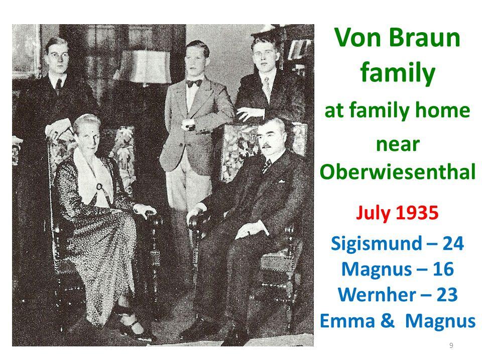Sigismund – 24 Magnus – 16 Wernher – 23 Emma & Magnus