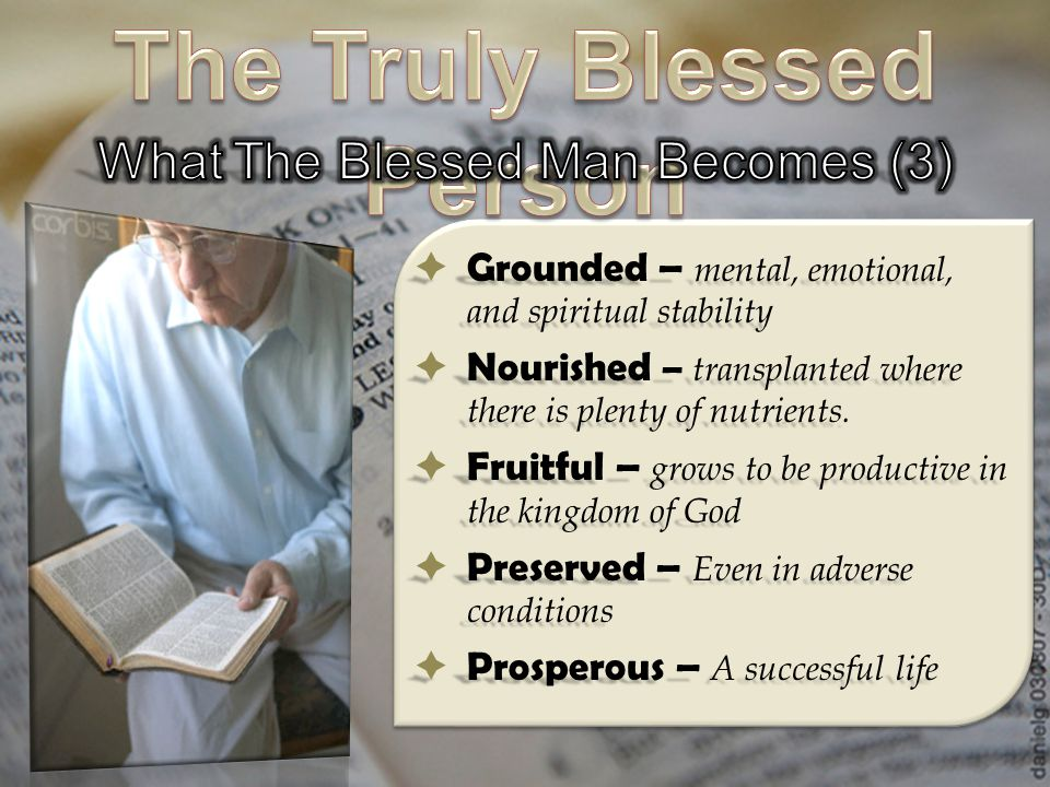 The Truly Blessed Person