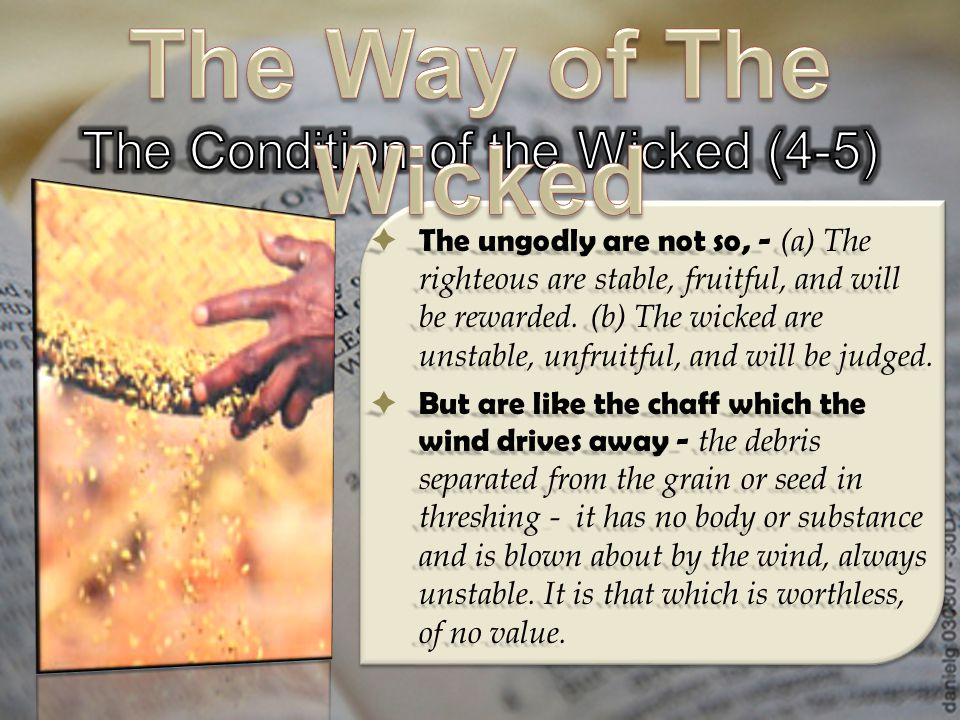 The Condition of the Wicked (4-5)