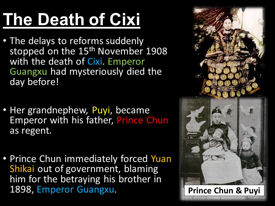 The Death of Cixi