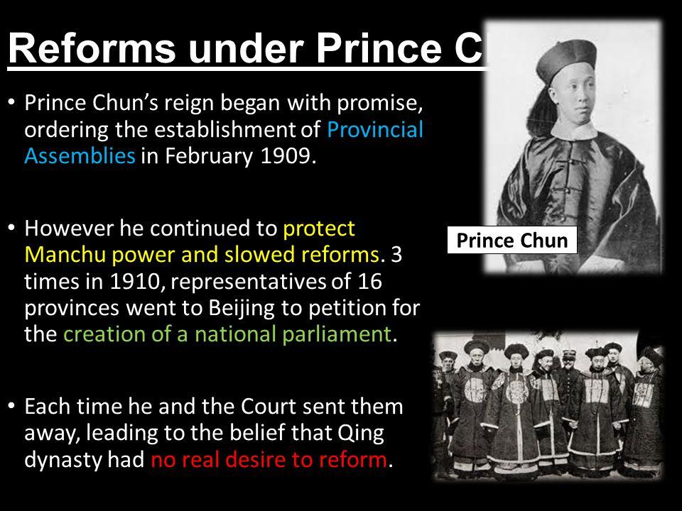 Reforms under Prince Chun
