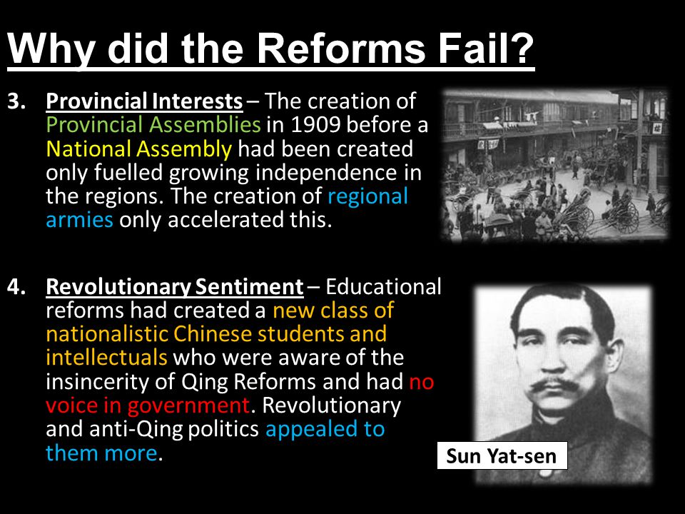 Why did the Reforms Fail
