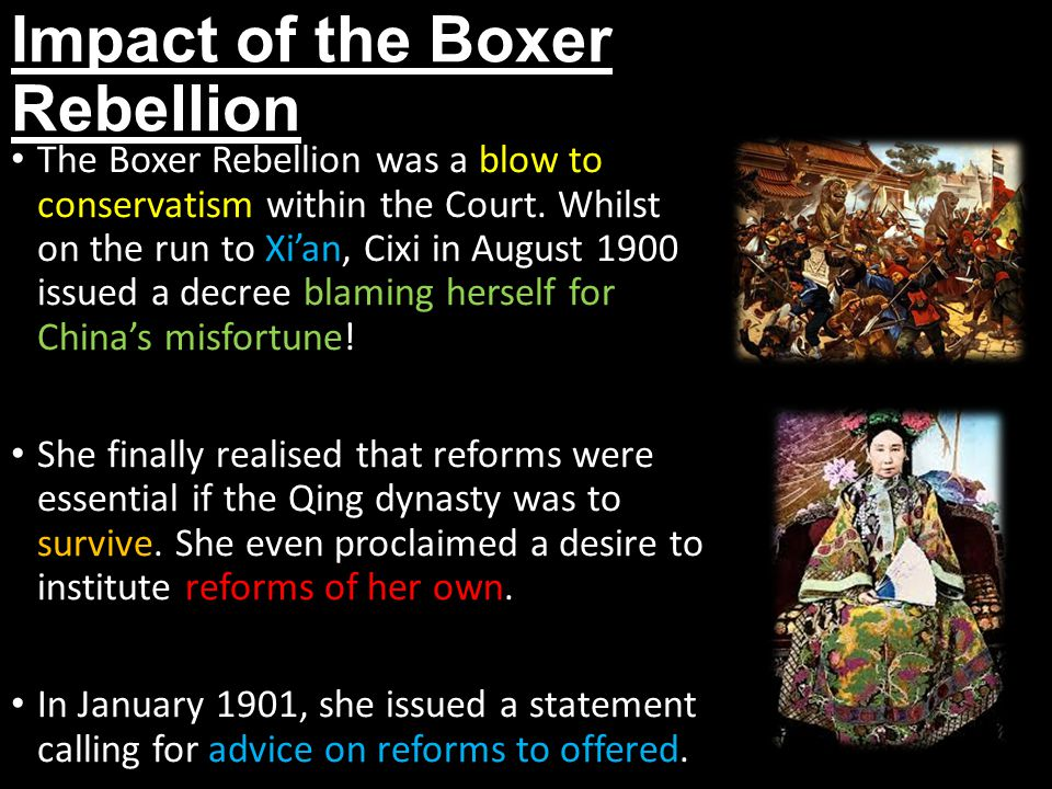 Impact of the Boxer Rebellion