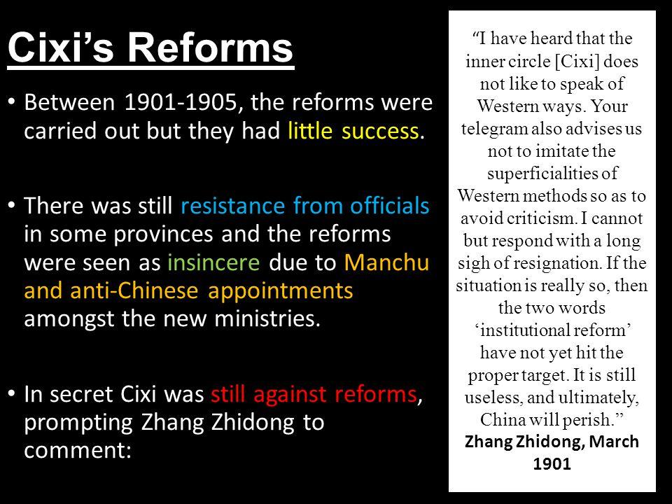 Cixi's Reforms