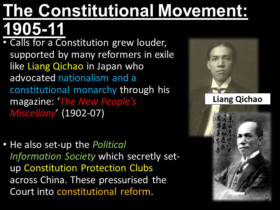 The Constitutional Movement: 1905-11