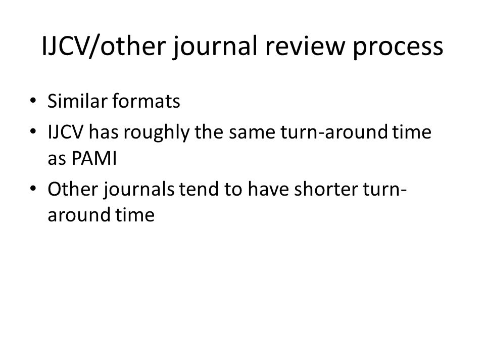 IJCV/other journal review process